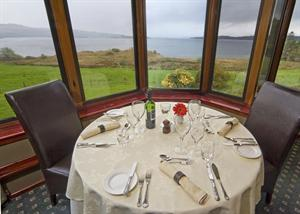 The Asknish Bay Restaurant at Loch Melfort Hotel, near Oban