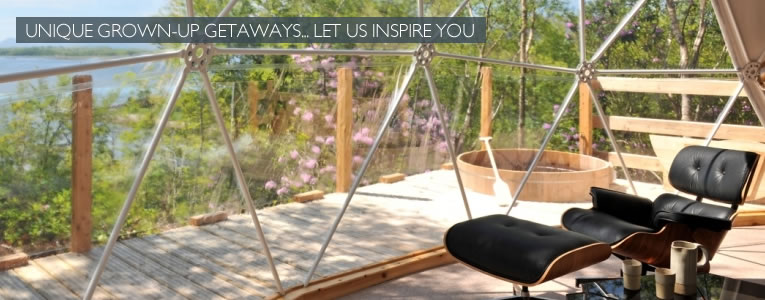 Unique grown up getaways. Let us inspire you.